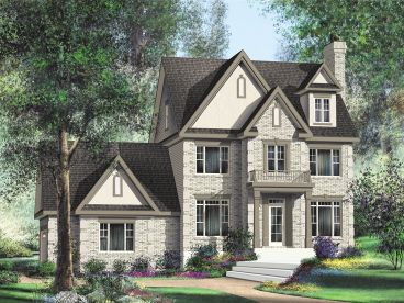 Three-Story House Plan, 072H-0114