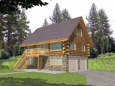 Narrow Lot Log House, 012L-0033