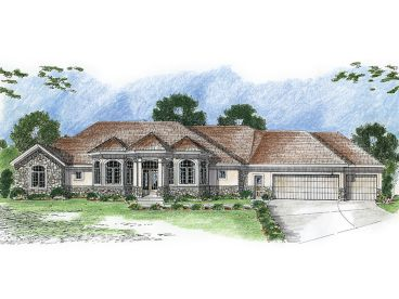 Luxury Home Plan, 050H-0042