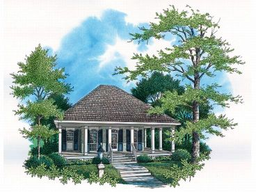 Cottage Home Plan, 021H-0002