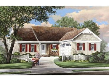 Ranch House Plan, 063H-0194