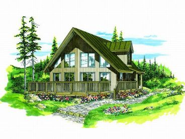 Mountain Home Plan, 032H-0054