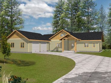 Empty-Nester Ranch House Plan, 012H-0156
