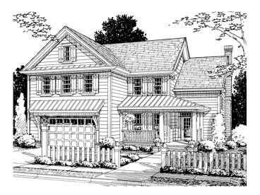 Country Home Plan, 059H-0055