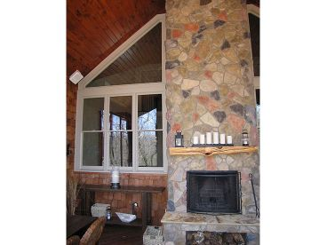 Outdoor Fireplace Photo, 053H-0043