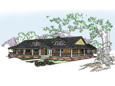 Ranch Home Plan, 013H-0037