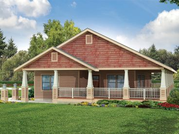 Bungalow House Plan, 051H-0218