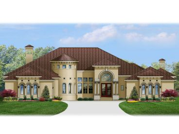 Mediterranean Home Plan, 064H-0052