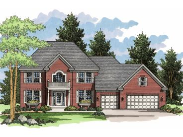 Colonial House Plan, 023H-0109