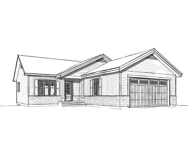Empty-Nester House Plan, 027H-0419