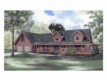 Log House Plan, 025L-0028