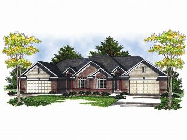 Multi-Family Home Design, 020M-0042