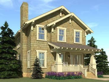 Craftsman House Plan, 052H-0033