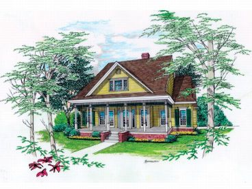 Two-Story Home Plan, 021H-0142