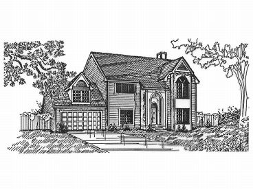 Two-Story Home Plan, 009H-0023