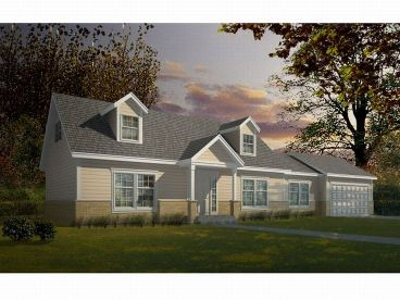 Cape Cod House Plan, 026H-0073