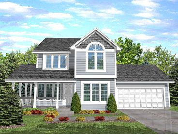 Traditional Home Plan, 016H-0005