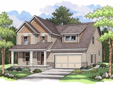 Narrow Lot House Plan, 023H-0106