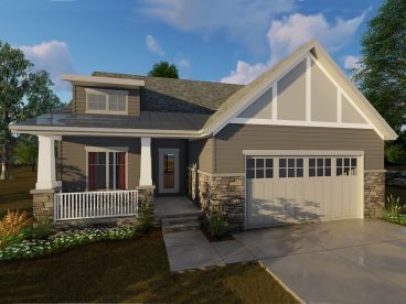 Empty-Nester Bungalow Plan, 050H-0124