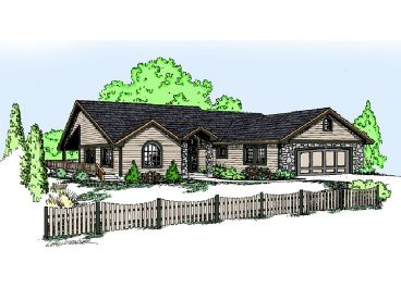 Ranch House Plan, 013H-0087