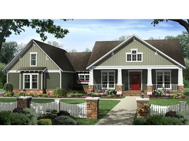 Country Craftsman Home, 001H-0173
