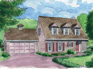 Cape Cod House Plan, 054H-0054
