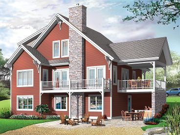 Waterfront Home Plan, 027H-0229