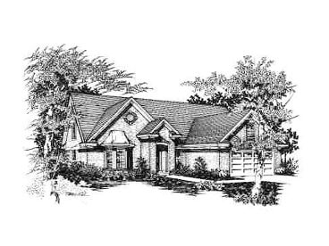 European House Plan, 061H-0058