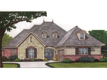 European House Plan, 002H-0055