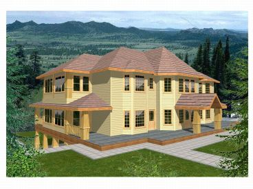 Sloping Lot Home Plan, 012H-0023