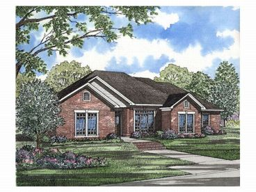 Ranch Home Plan, 025H-0024