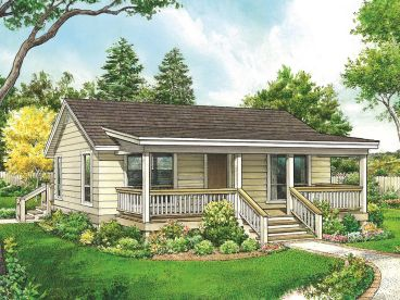 Cabin House Plan, 008H-0067