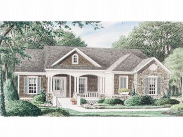 Country Home Plan, 011H-0011