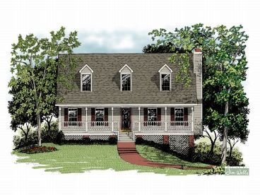 Country House Plan, 007H-0025
