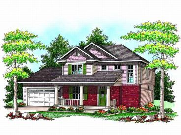 Two-Story House Plan, 020H-0166