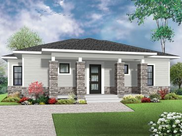 Modern Empty-Nester House Plan, 027H-0425