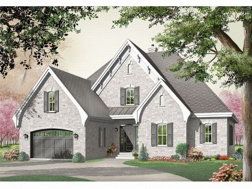Two-Story House Plan, 027H-0021