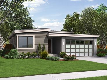 Small Modern House Plan, 034H-0261