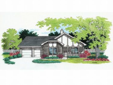 One-Story House Plan, 021H-0015