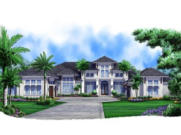 Premier Luxury House Plan, 037H-0198