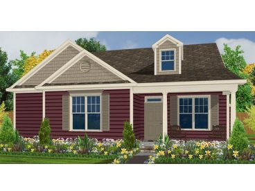 Small Ranch House Plan, 073H-0100