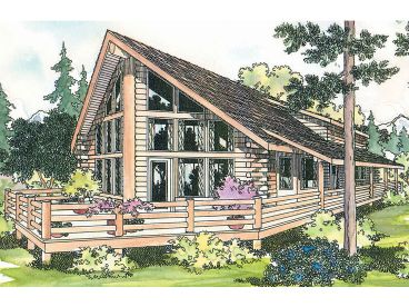 A Frame Log Home Plan, 051L 0004