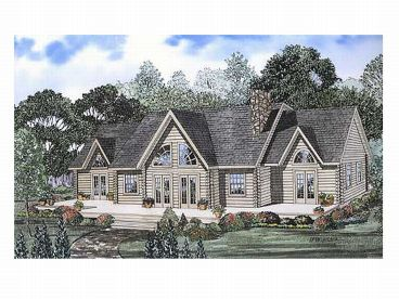 Log House Plan, 025L-0008