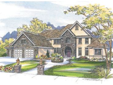 European House Plan, 051H-0087