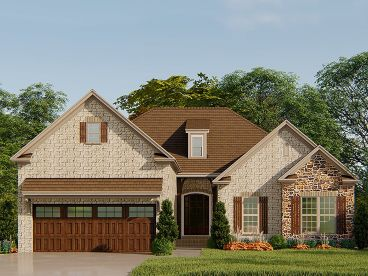 Ranch House Plan, 074H-0108