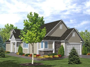 Narrow Lot House Plan, 016H-0001