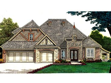 European House Plan, 002H-0104