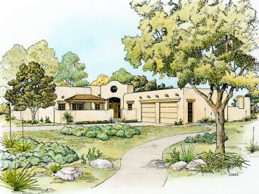 Southwestern House Plan, 008H-0049