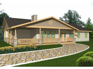 Ranch House Plan, 012H-0189