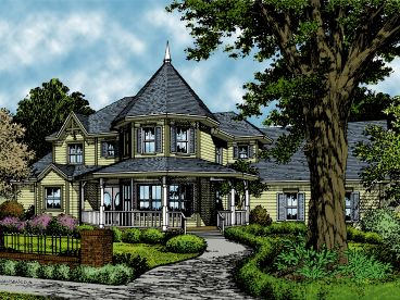 Victorian House Plan, 043H-0254